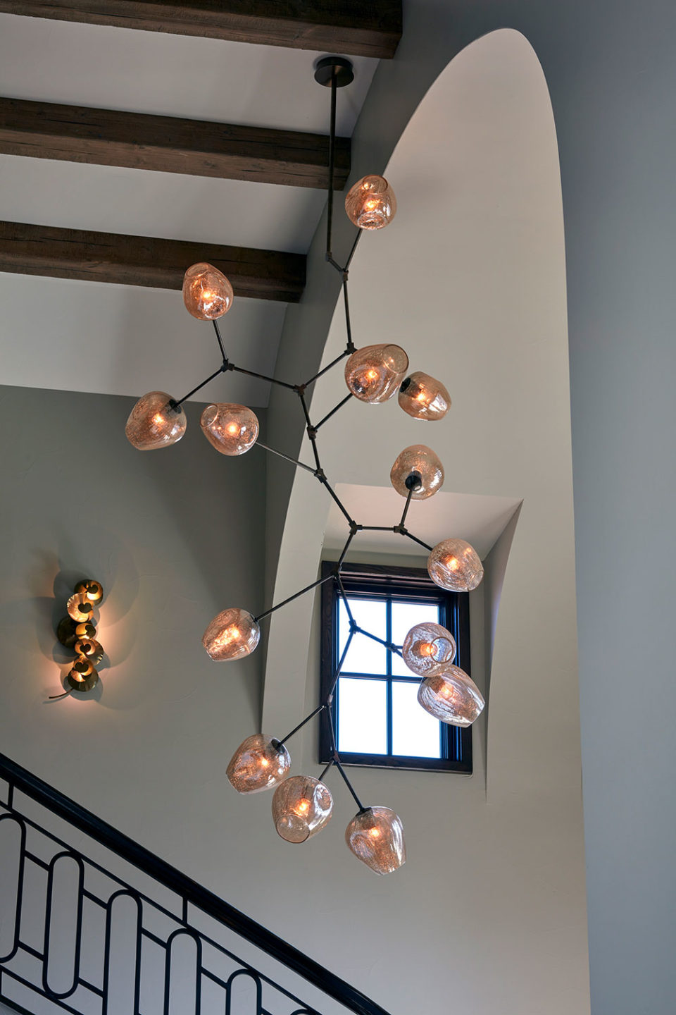Custom Art Glass Chandelier