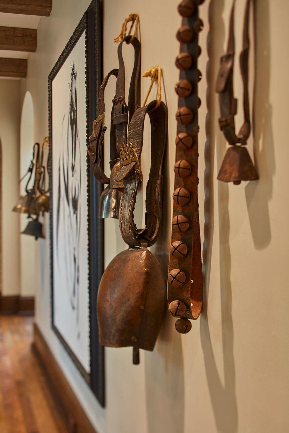 Vintage Cow Bells Bring Historic Value to Texas Home