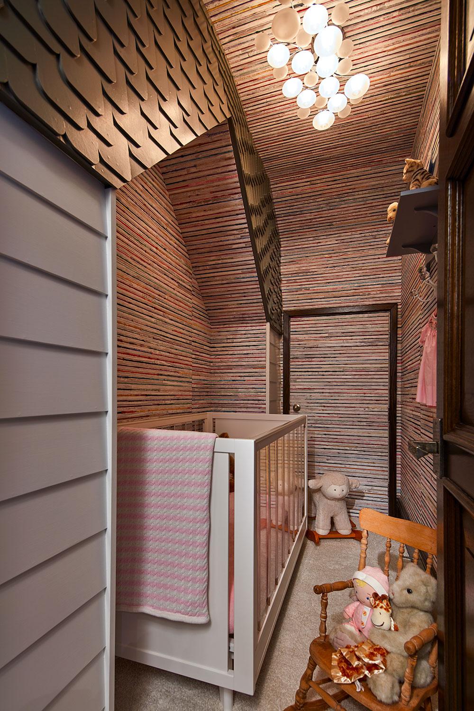 a nursery inside a closet