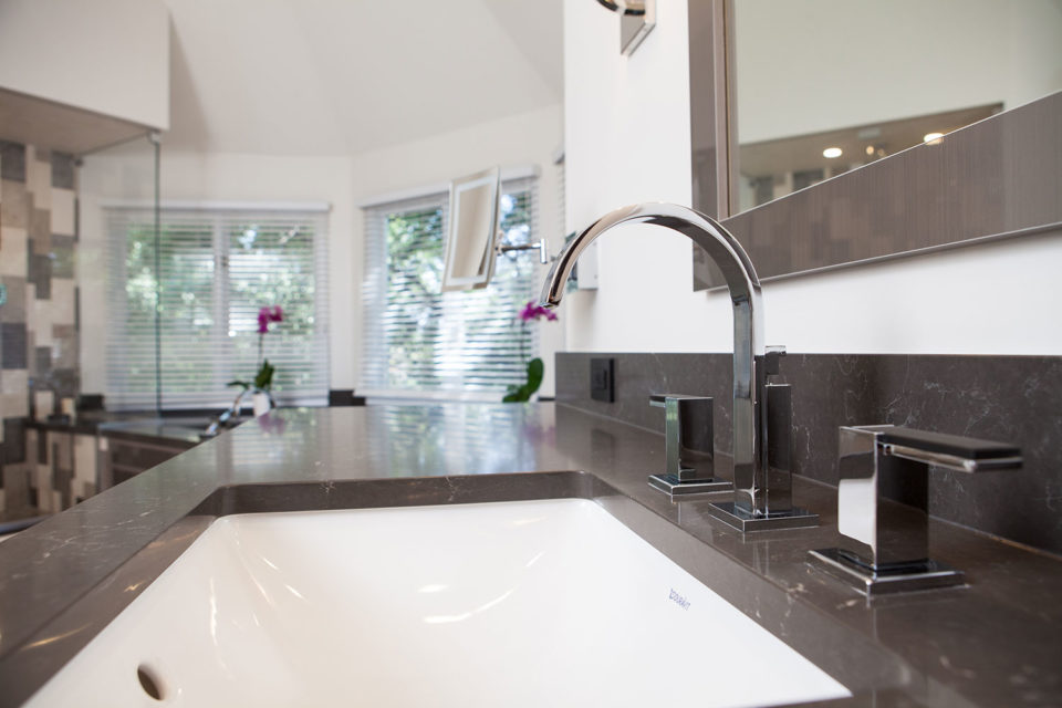 Artistic Touch on Chrome Faucet Handles