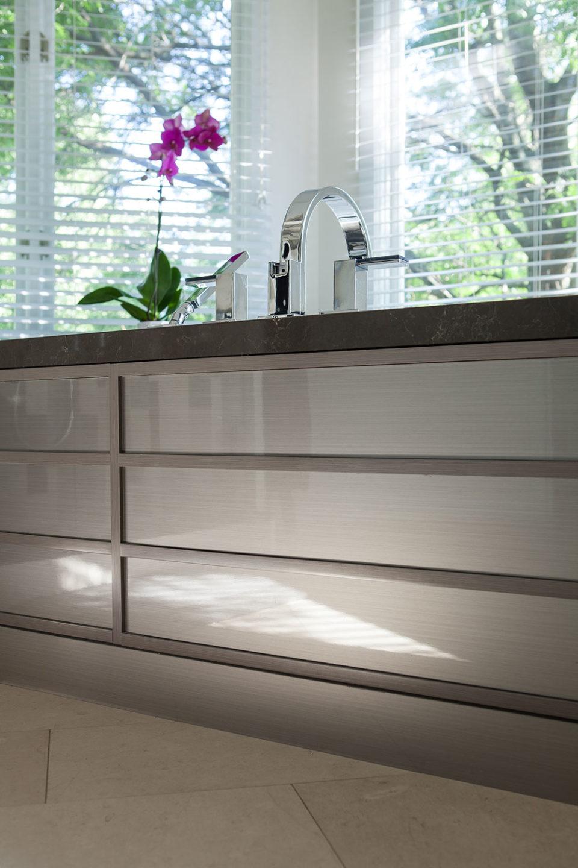 Brushed Grey Metal Tub Front Panels