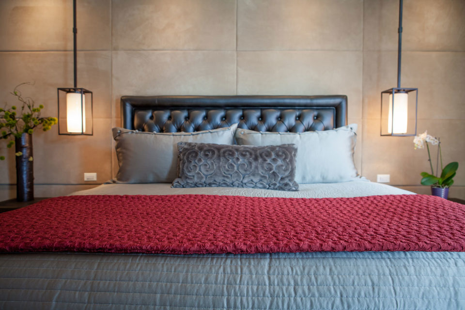 Textural Headboard and Bedding