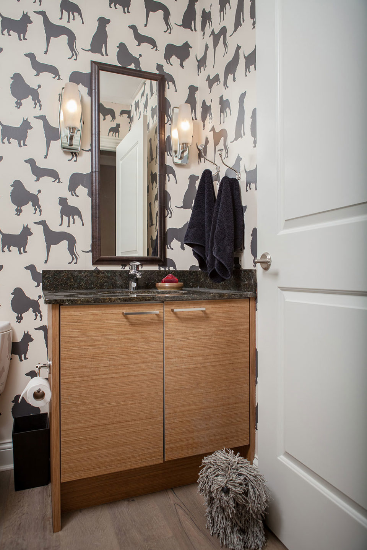 Dog Themed Powder Room