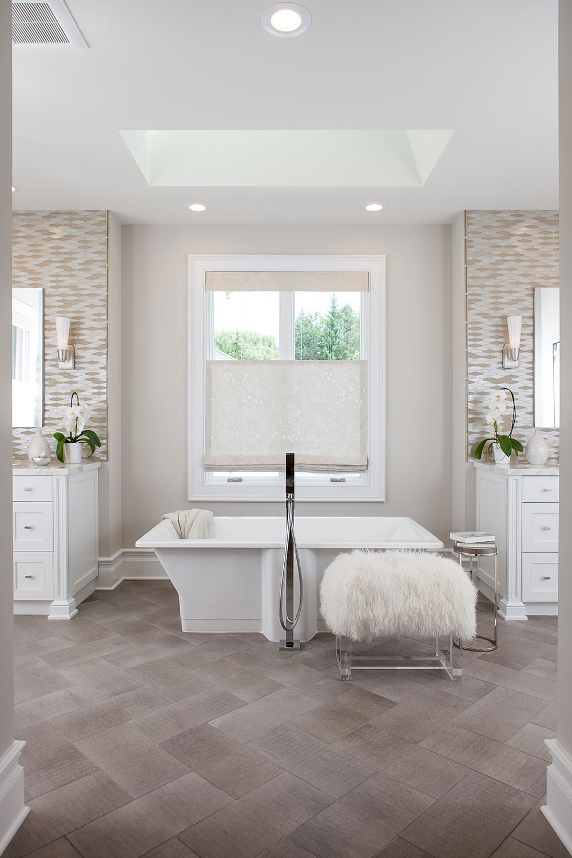 Heated, Textural Tile Floor