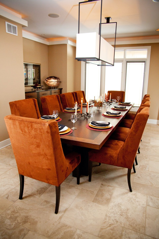 Warm, Rustic Dining Room