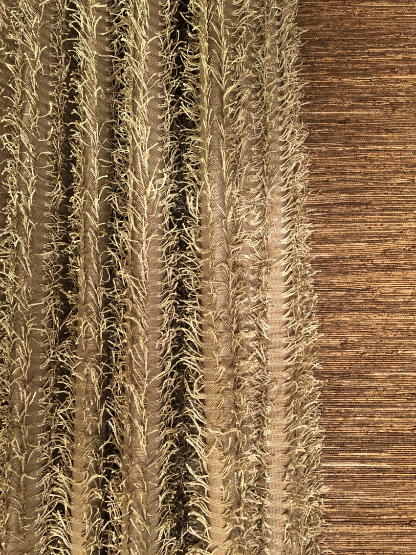 Fuzzy drappery panel fringe