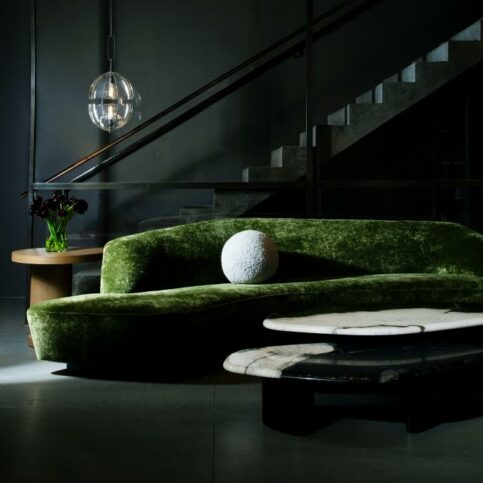 holy hunt green sofa