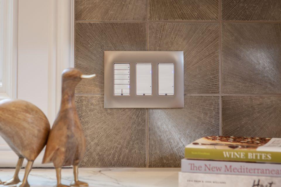 Custom Lighting on Tile Backsplash