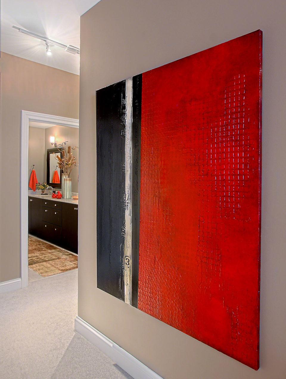 Modern Art Installation in Master Bedroom