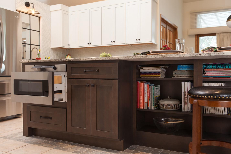 sharp brand microwave drawer dark kitchen island