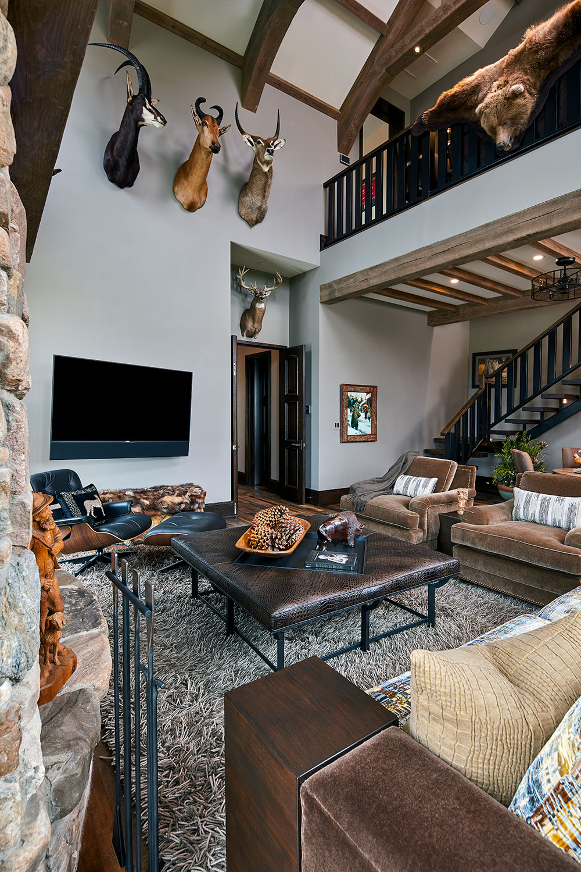 using sustainable furnishings in custom designer living room